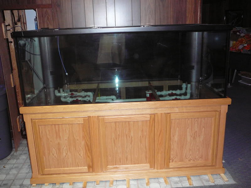 300 gal marineland deep dimension tank stand and cannopy giant