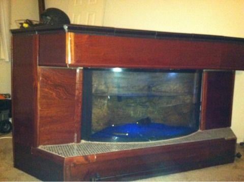 Granite Custom built aquatic bar / 100 gallon fish tank all set up ...
