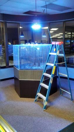 290g Acrylic Hex Aquarium - $1950 (Brookfield, WI)