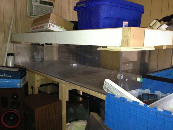 Acrylic fish tank, stand, canopy, skimmer, sump, OBO - $1250 (Pensacola)