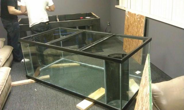 300 gallon deep dimension tank and stand.
