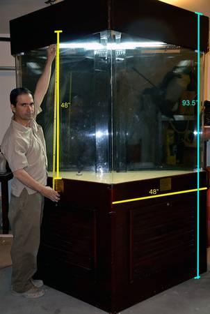 Huge Aquarium, 4ftTall tank, 400gl, It's a beautifu - $1300 (maricopa az)